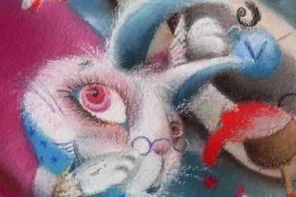 不思議の国のアリス アリスインワンダーランド 絵 イラスト アート パステル画 明日香 色のね asuka ironone