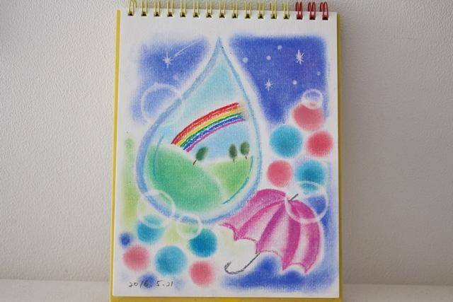 絵画教室 枚方 梅雨 雨 かさ パステル画 デッサン スケッチ 絵 パステルアート 色のね いろのね ironone asuka 沖明日香