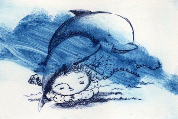 沖明日香 色のね パステル画 パステルアート イラストレーター イラスト 画家 アート 絵 ヤドカリ 海 紫 クリスマス
