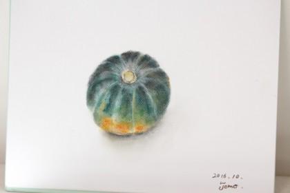 かぼちゃ ドラゴンフルーツ 絵 パステル画 パステルアート デッサン スケッチ 絵 色のね 沖明日香 絵画教室 枚方