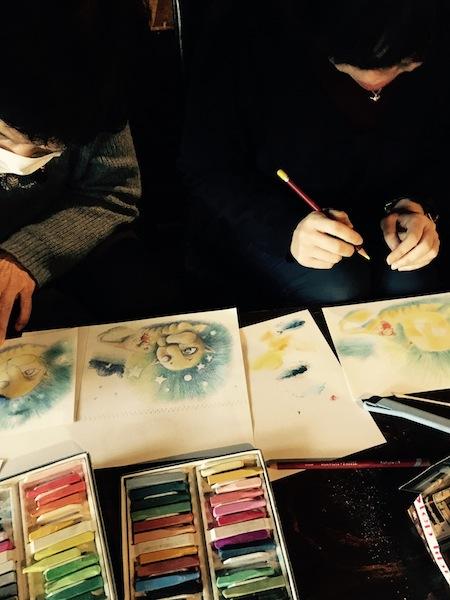 沖明日香 色のね パステル画 パステルアート イラストレーター イラスト 画家 アート 絵 ライオン ネズミ 月 ルポ