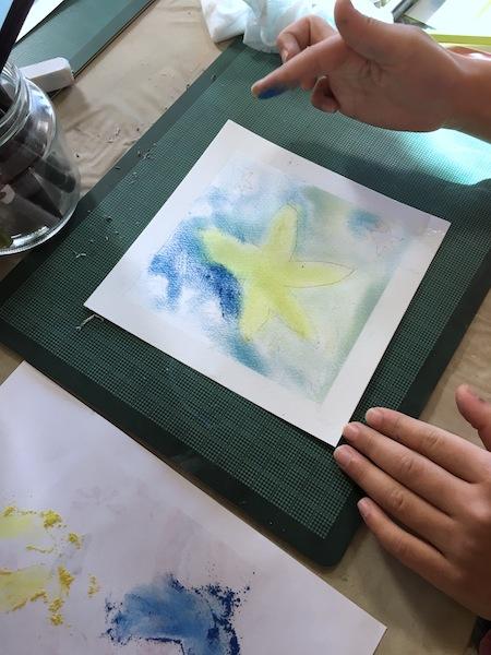 沖明日香 色のね こどもアート パステルアート パステル画 ワークショップ 枚方 お絵描き教室 絵画教室