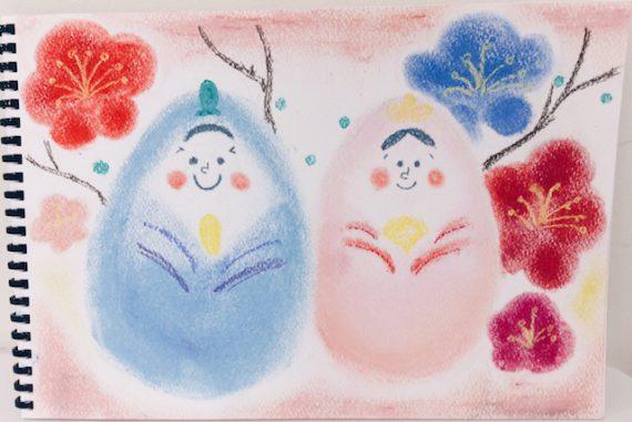 ひな祭り おひなさま 春 絵 パステル画 パステルアート デッサン スケッチ 色のね いろのね 沖明日香 絵画教室 枚方 八幡