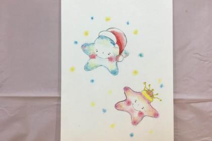 クリスマス 冬 かわいい 絵 パステル画 パステルアート デッサン イラスト ドローイング 色のね いろのね ironone 沖明日香 絵画教室 絵画造形教室 こども工作 おえかき 関西 大阪 枚方 八幡