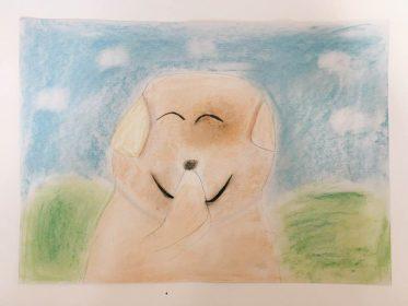 犬 かわいい 絵 パステル画 パステルアート デッサン イラスト ドローイング 色のね いろのね ironone 沖明日香 絵画教室 絵画造形教室 こども工作 おえかき 関西 大阪 枚方 八幡